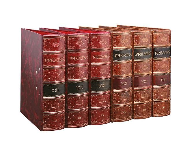 Pardo Premier - Archivador, color burdeos: Amazon.es: Oficina y papelería