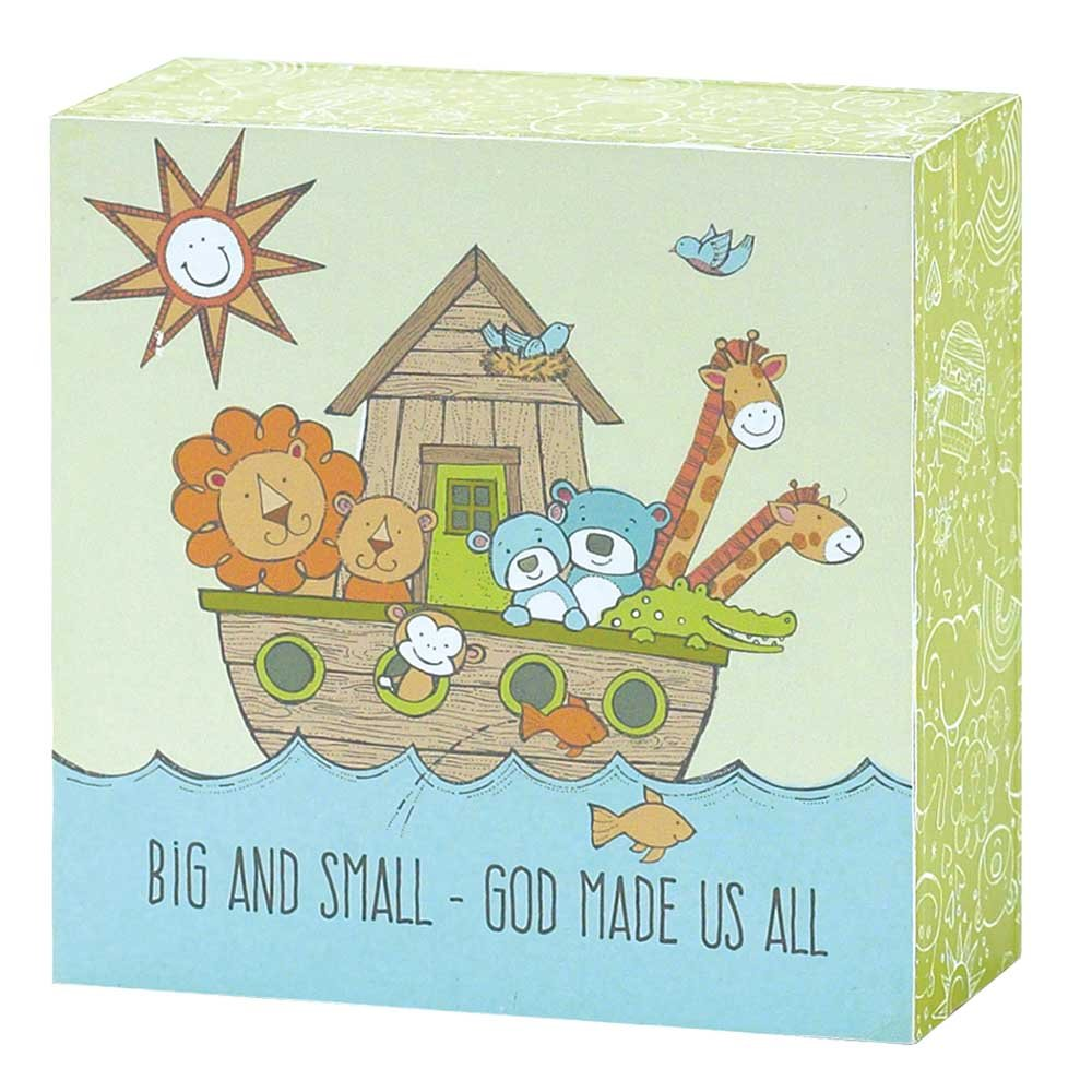 Dicksons Big and Small God Made Us All Noah's Ark Tabletop/Wall Mini Plaque, Multicolor