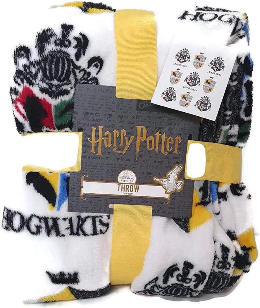Licensed_Primark Manta de forro polar de Harry Potter Hufflepuff super suave de viaje, regalo nuevo BNWT