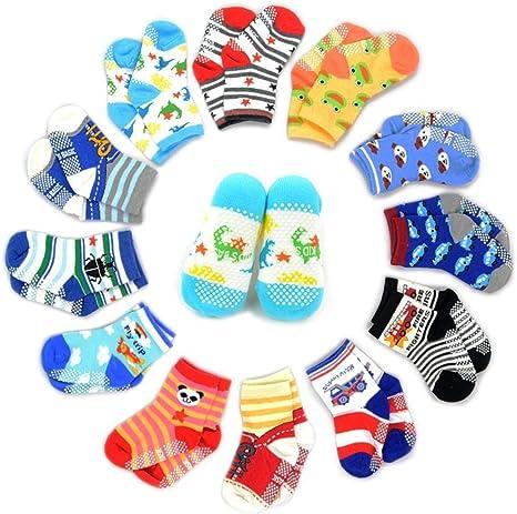 Bébé Filles Antidérapant Chaussettes Trois Pack Deux Designs Idéal Soft Play Socks