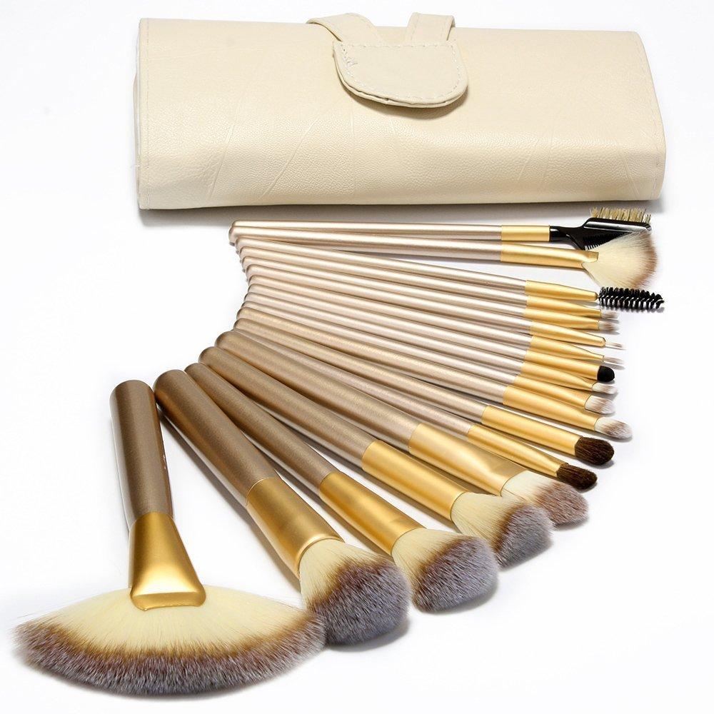 Situado® 18 piezas de uso profesional/de maquillaje de cepillo de juego de copas de diseño con llamarada en los color blanco para silla de ruedas para el de ...