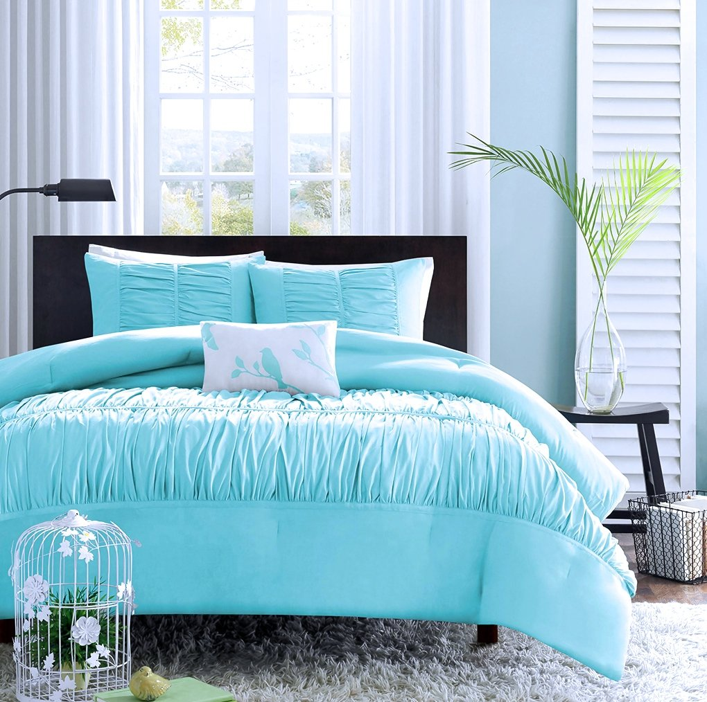 Turquoise, Blue, Aqua Girls Twin Comforter Set