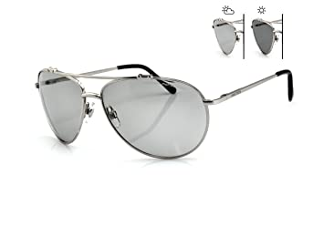 New Classic Sonnenbrille Damen & Herren s-157F Sun Trooper PHOTOCHROME Linsen Aviator Stil perfekt für Golf fahren mit Fall RObiKab