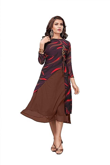 e32347c06ed9 Shadow Export Women s Clothing Kurti For Women Latest Designer Wear Fancy  Party Wear Kurti(Multi X