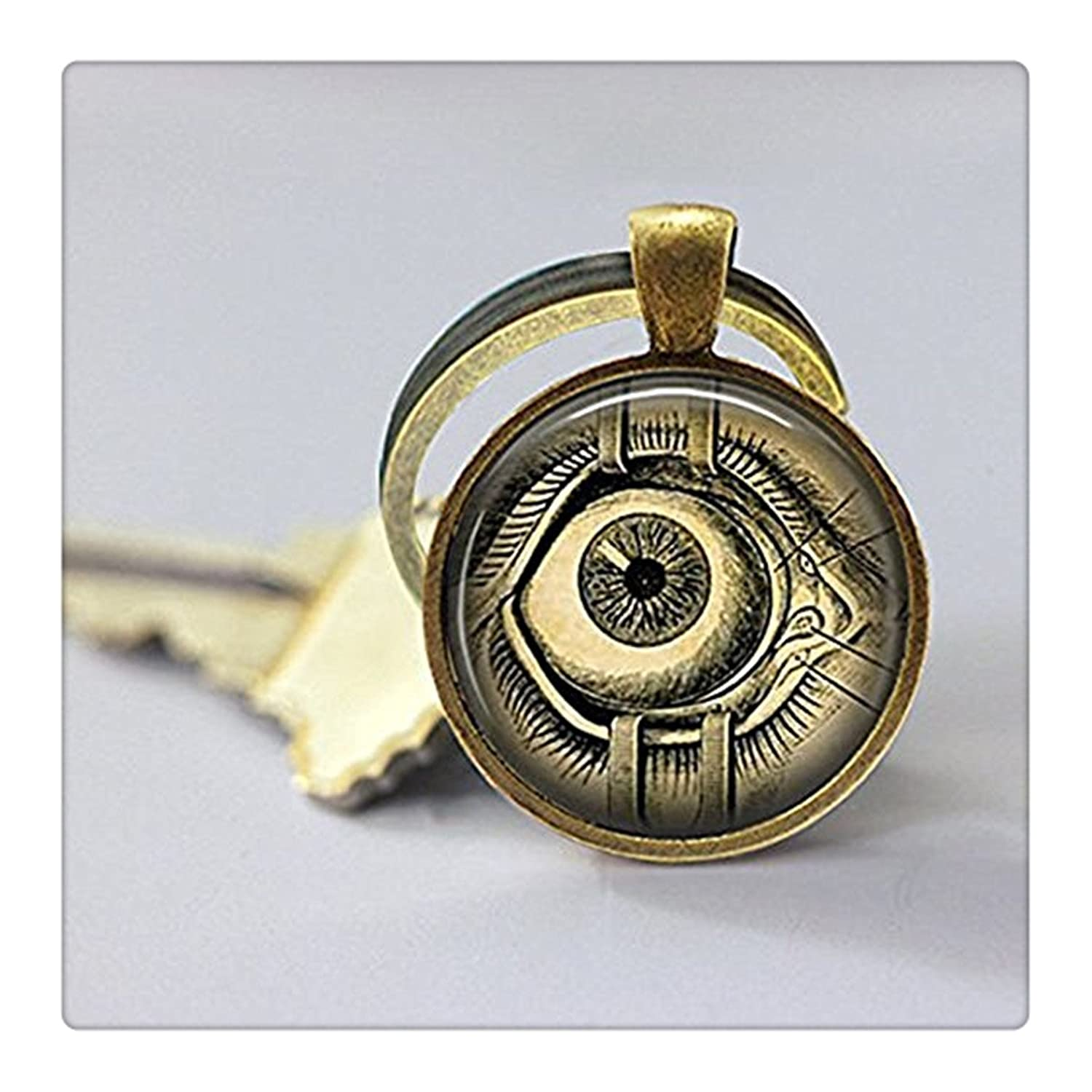 Amazon.com: Steampunk Keychain, Human Anatomy, Evil Eye, Steam Punk ...