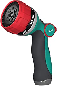 TRIO-TX Garden Hose Nozzle - Water Hose Spray Nozzle Heavy Duty - 7 Patterns High Pressure Metal Sprayer Hose Nozzles with Thumb Control for Outdoor Watering Lawn and Garden