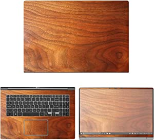 """decalrus - Protective Decal Wood Skin Sticker for LG Gram 17Z990 (17.3"""" Screen) case Cover wrap LGgram17_17Z990-155"""