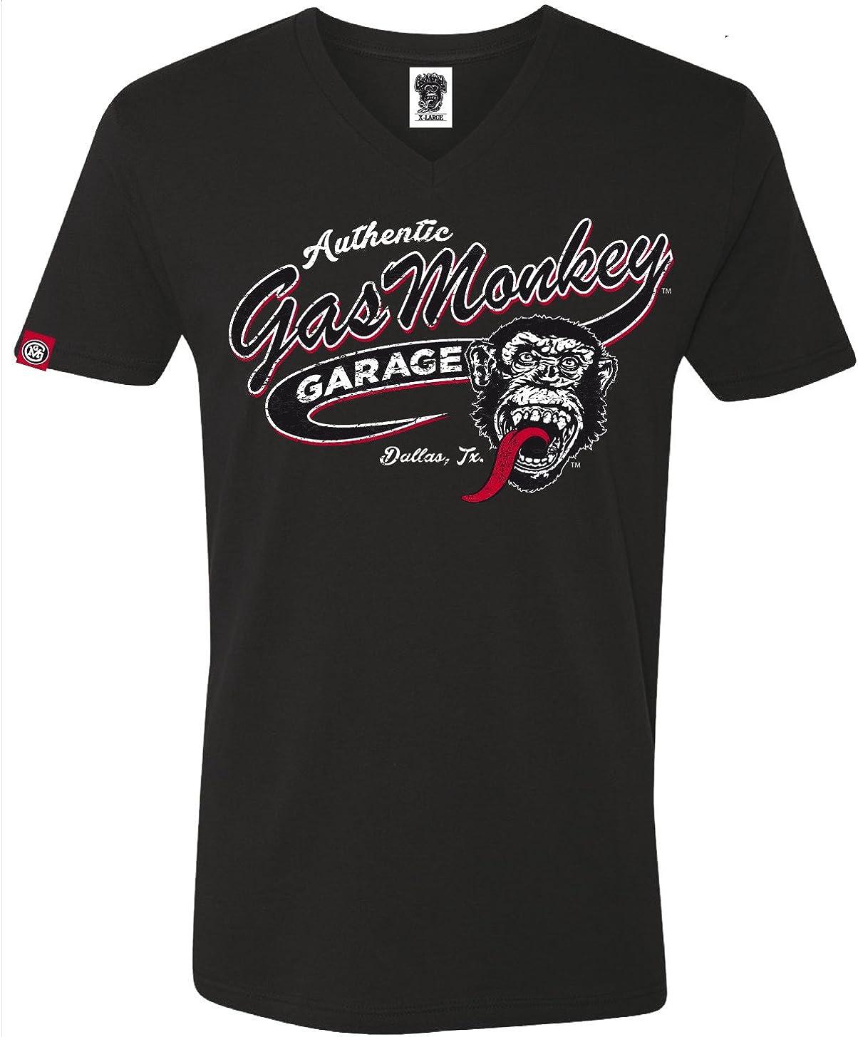 Gas Monkey Garage T Shirt Vintage Athletic Black Bekleidung