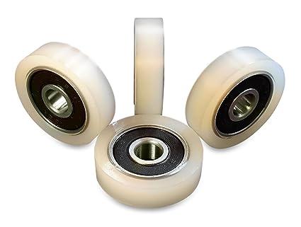 4/pi/èces en nylon Polyamide Rouleaux 40/mm de diam/ètre 20/mm de largeur 8/mm Roulement avec pr/écision usin/é dans lUnion europ/éenne 40/–20/–8
