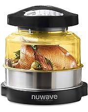 NuWave 20606   Horno de conducción, convección e Infrarrojos, Comidas más sanas y cocción Flexible Freír, Hornear, Asar, Parrilla, cocinar al Vapor, gratinar y deshidratar, Negro