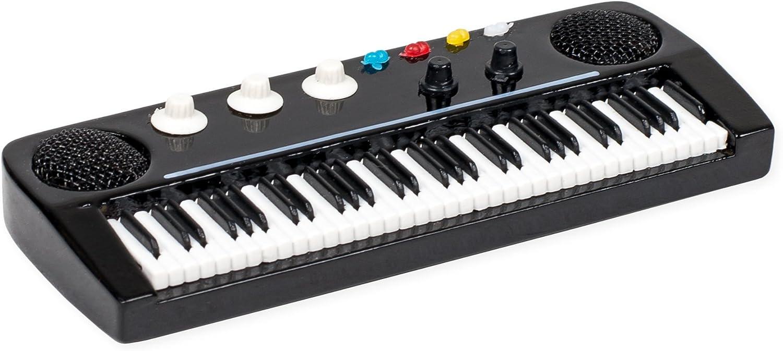 Keyboard Miniature Replica Black & White 2 x 4.5 Resin Stone Refrigerator Magnet