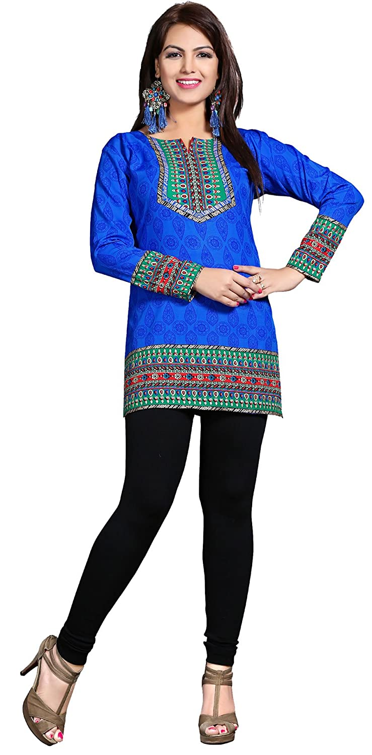 Maple Clothing Kurti Tunic Top Printed Womens Blouse Indian Clothes Event126p