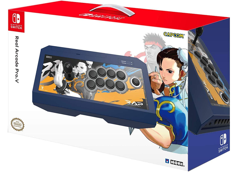 HORI Nintendo Switch Real Arcade Pro - Street Fighter™ Edition (Chun-Li) Officially Licensed by Nintendo & Capcom
