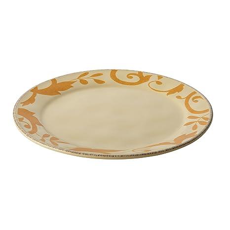 Rachael Ray Dinnerware Gold Scroll 12-1/2-Inch Round Platter Almond  sc 1 st  Amazon.com & Amazon.com | Rachael Ray Dinnerware Gold Scroll 12-1/2-Inch Round ...