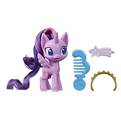 My Little Pony Twilight Sparkle Potion Pony Figure -- 3-Inch Purple Pony Toy with Brushable Hair, Comb, and 4 Surprise Accessories: Toys & Games