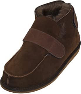 Harrys-Collection Extra Dicke Lammfell Schuhe mit Klettverschluss ... 0808f2464f