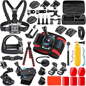 Amazon.com: SmilePowo - Kit de accesorios 42 en 1 para GoPro ...