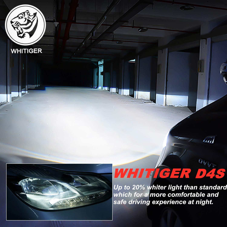 Whitiger Auto D2S Bombilla HID Xenon L/ámpara 8000K 12V 35W 2 unidades
