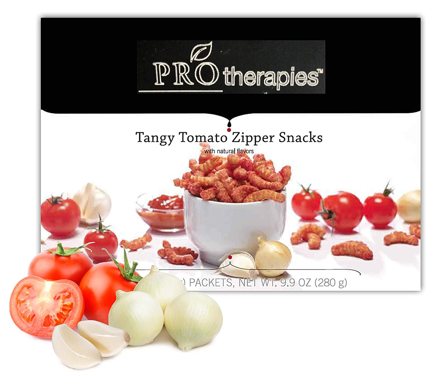 High Protein Chips - Keto Friendly Protein Tangy Tomato Zippers (15g Protein) 7 Servings/Pack by PROTherapies