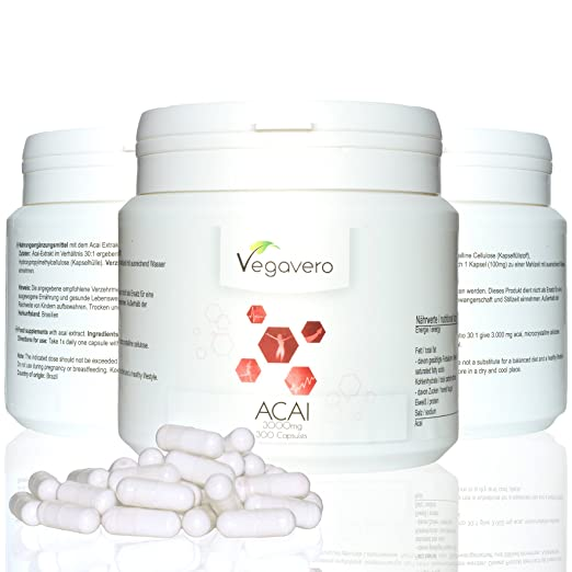 29 opinioni per Acai Vegavero – | Bruciagrassi- antiossidante – energizzante | dosaggio elevato
