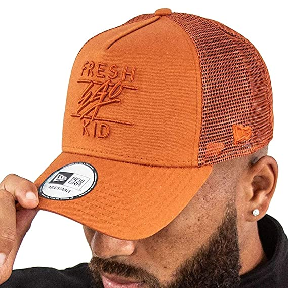 f3484a95700 Fresh Ego Kid Men s Mesh Trucker Cap One Size Rust  Amazon.co.uk  Clothing
