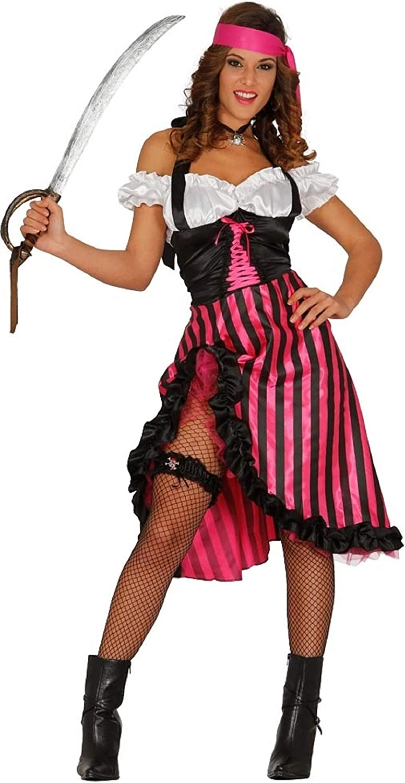 Ladies – Disfraz de cabaretera pirata Villain Buccaneer Sexy rosa ...