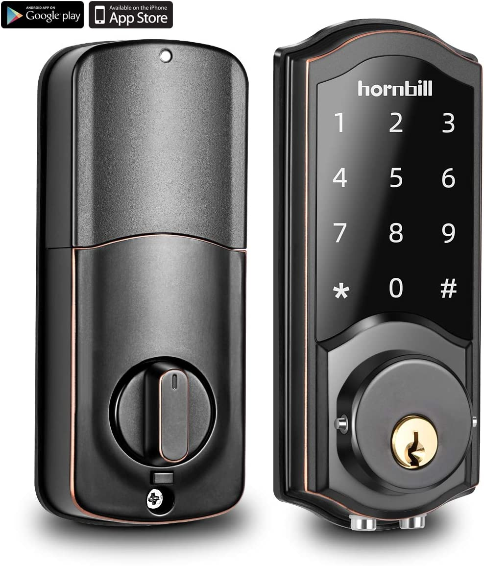 [2020 Newest Version] Keyless Entry Door Lock Deadbolt, Smart Lock Front Door, Electronic Door Locks with Keypads, Digital Auto Lock Bluetooth Smart Door Locks for Homes Bedroom