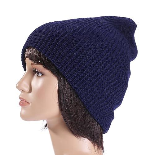 MTTROLI - Gorro de punto - para mujer Azul azul marino Talla única