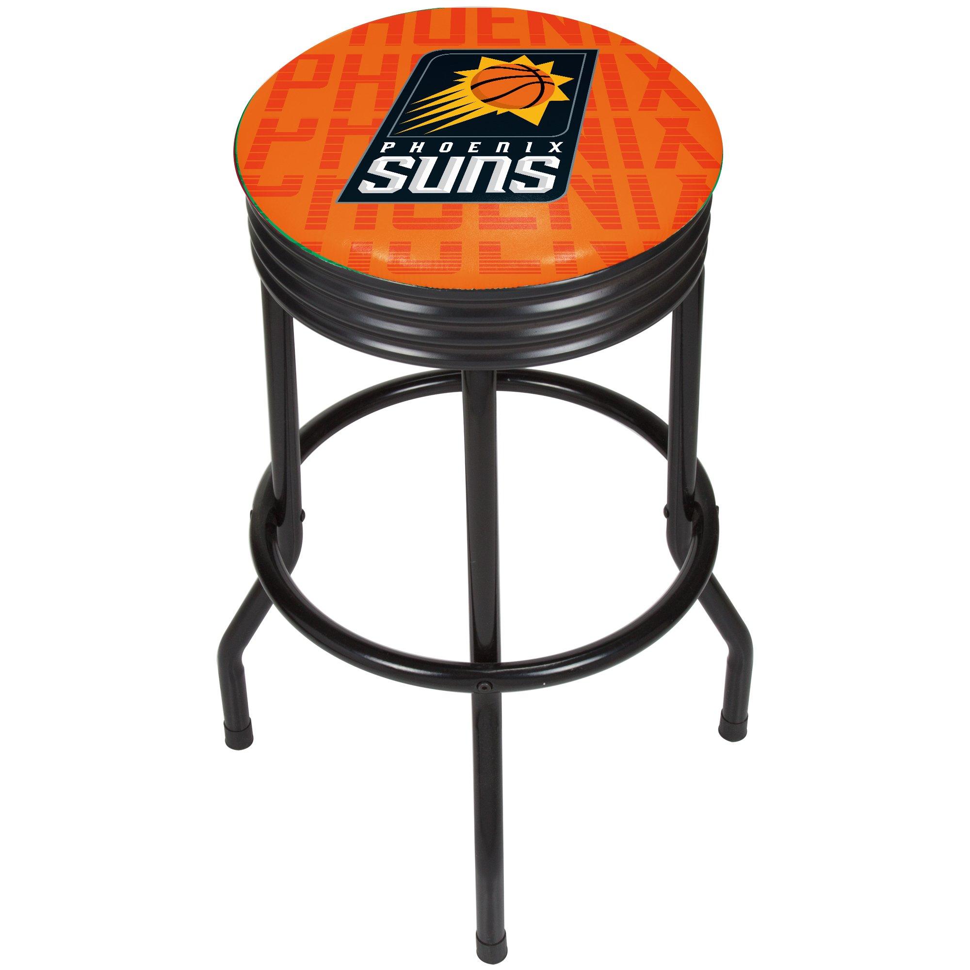 Trademark Gameroom NBA1006-PS3 NBA black Ribbed bar Stool - City - Pheonix Suns