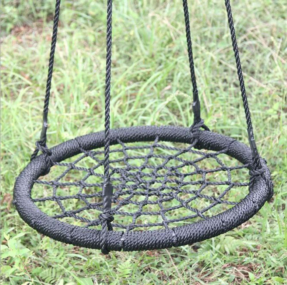 Nlne Outdoor-Freizeit-Nylon-Seil Portable Bequeme Mesh Disc Swing Swing Chair
