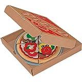 Melissa & Doug Felt Food Mix 'n Match Pizza Play Food Set (40 pcs)
