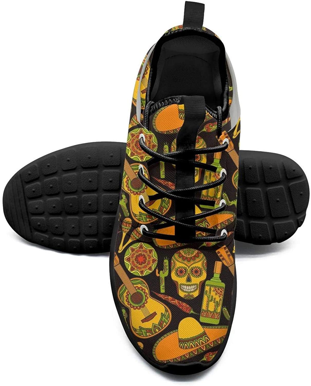 Mexican skulls folk guitar mesh lightweight shoes for women non slip sports badminton Sneakers shoes