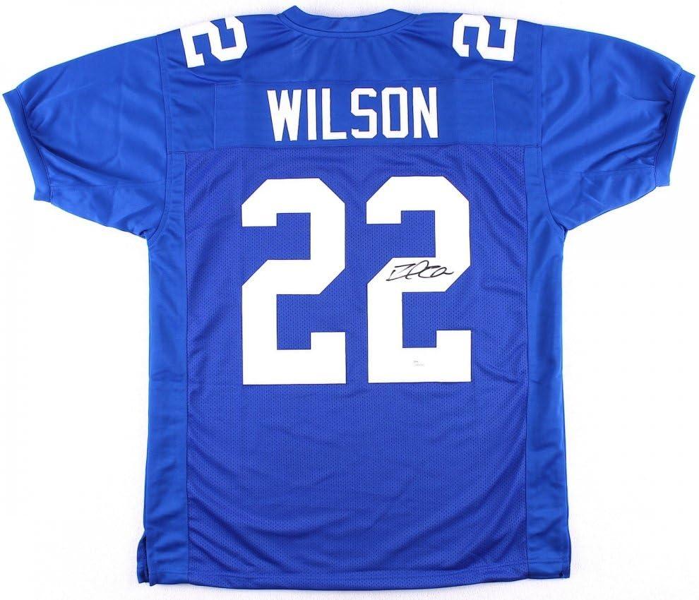 DAVID WILSON SIGNED NEW YORK GIANTS ON FIELD STYLE NY JERSEY w ...
