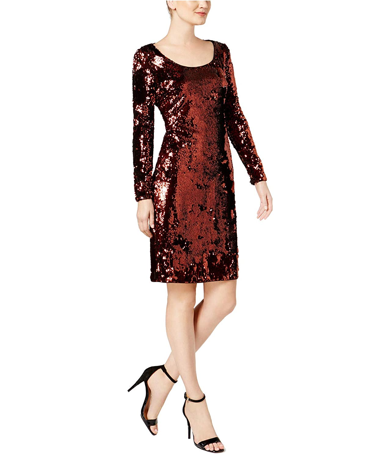 c12a7dda673 Calvin Klein Womens Sequined Mini Cocktail Dress at Amazon Women s Clothing  store