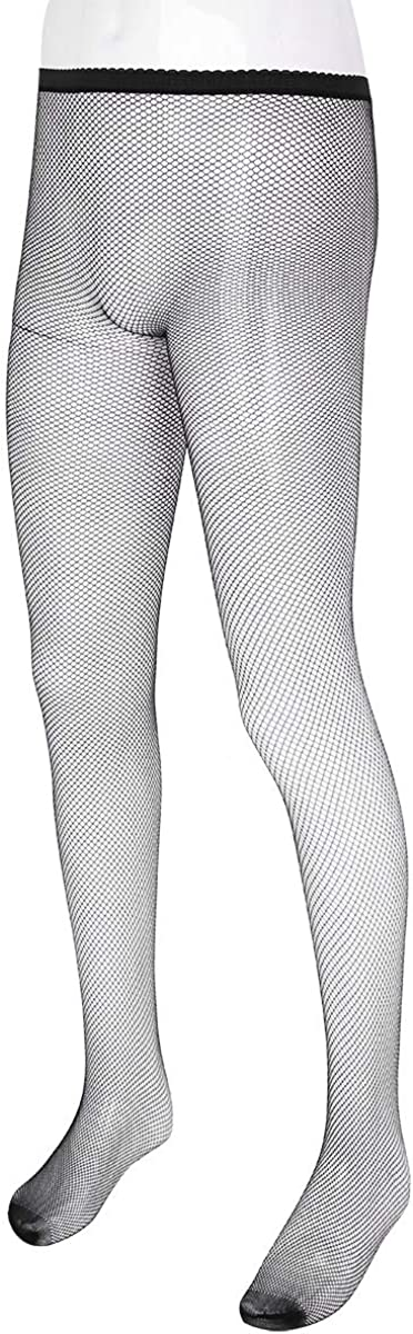 inlzdz Mens Sheer Fishnet Stretchy Footed Pantyhose Full Body Stocking Tights Bodysuit Lingerie Nightwear