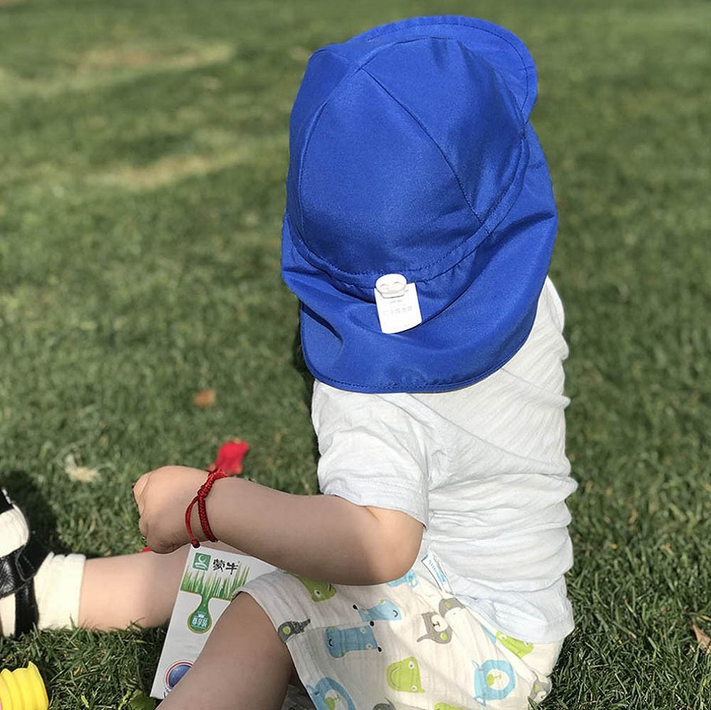 KFSO Children Sun Protection Cap Watermelon Whale Flower Cloud Animal Print Sunscreen Hat Baby Outdoors Cap Baby Lovely Soft Hat White