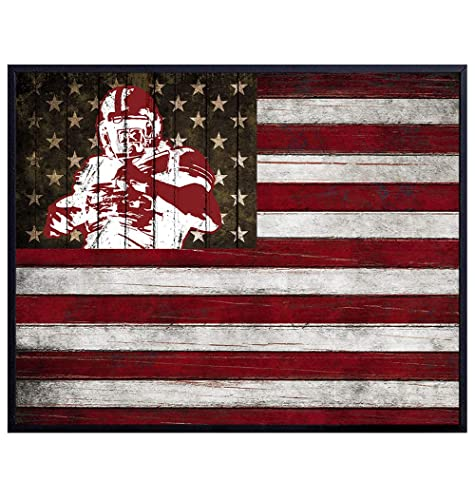 Amazon Com Texas A M Aggie Football Wall Art Print Patriotic Flag Poster Unique Home Decor For Dorm Room Office Man Cave Gift For Men Sports Fans Rustic Shabby Chic
