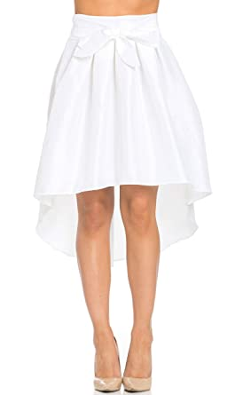 3a269fc7bccae Image Unavailable. Image not available for. Color  High-Low Taffeta Pleated  Midi-Skirt ...