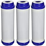 "3 x VYAIR 10"" GAC-10, C1, NP1, NCP1, NDL2 (Granular Activated Carbon) Water Filter Cartridge for Whole House, Commercial, Industrial, Reverse Osmosis Purification Systems"