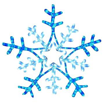 Rope Light Snowflake The christmas workshop 9 m led snowflake rope light blue white the christmas workshop 9 m led snowflake rope light blue white audiocablefo