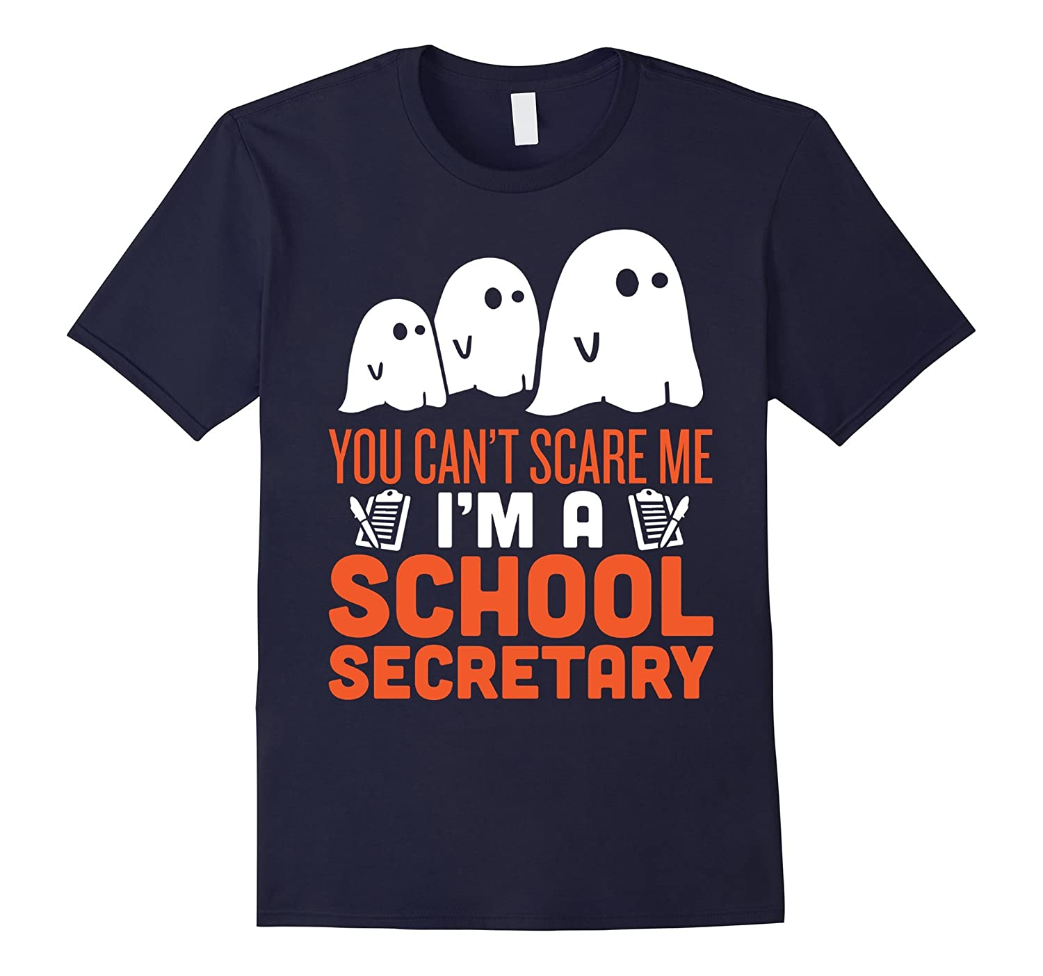 School Secretary - Halloween Ghost T-Shirt-TD