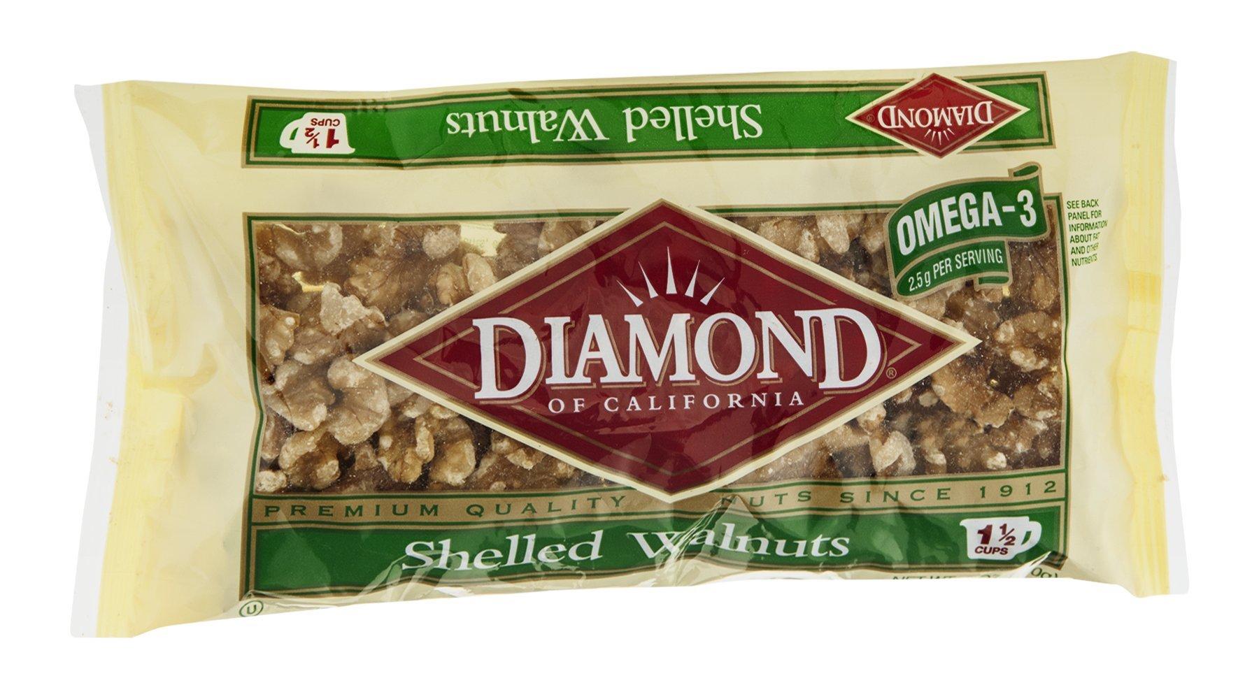 Diamond Walnuts Shelled 6 OZ (Pack of 12)
