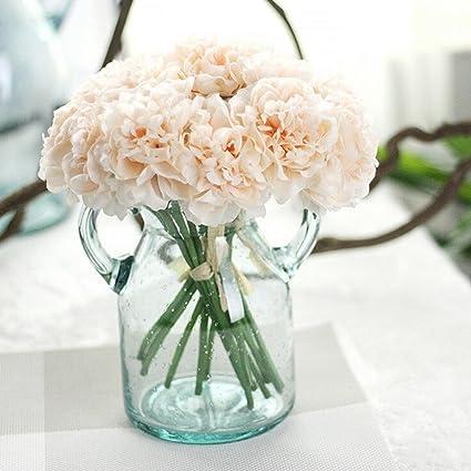 Amazon.com: YJYdada Artificial Silk Fake Flowers Peony Floral ...