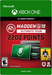 Amazon.com: Madden NFL 19: MUT 2200 Madden Points Pack ...
