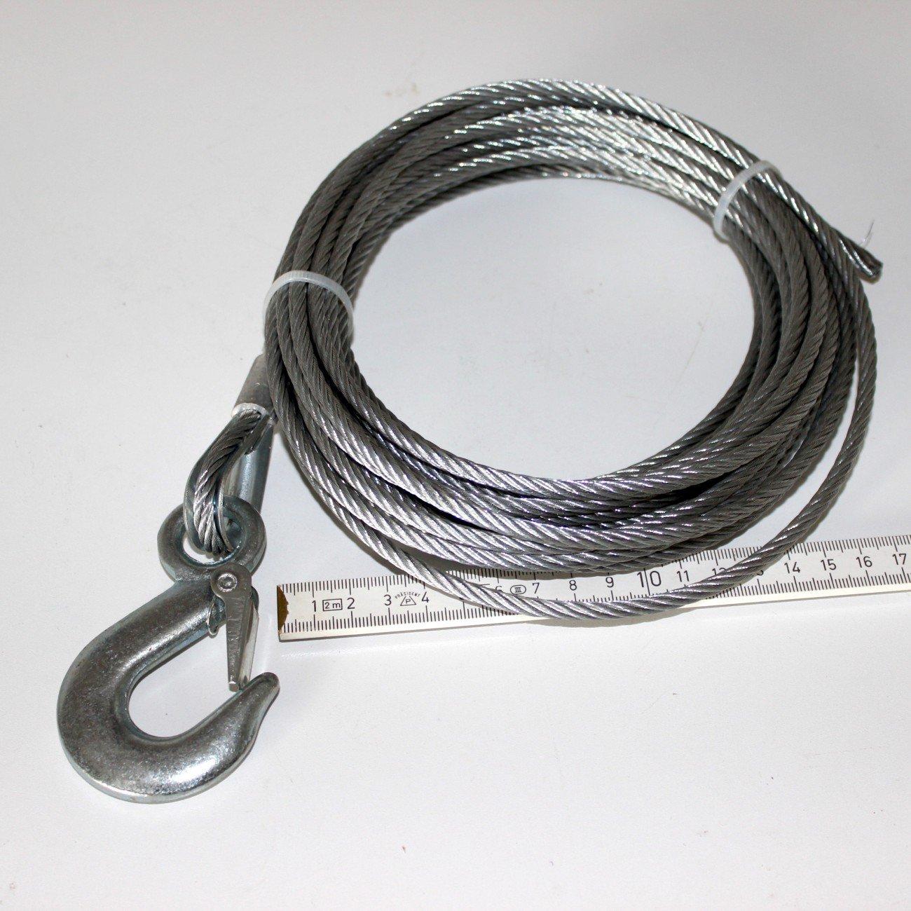 Drahtseil verzinkt 5 mm Länge 10 Meter lang Stahlseil Zugseil für ...