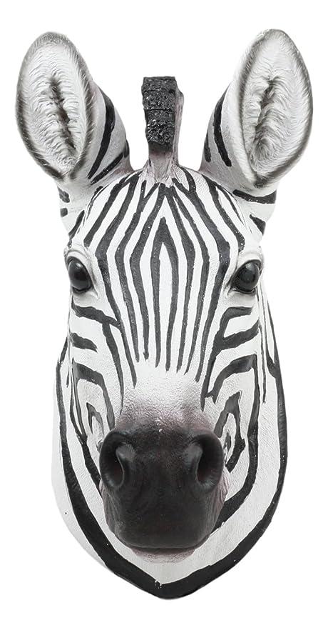Amazon.com: Ebros Madagascar Safari Zebra Horse Bust Wall Decor ...