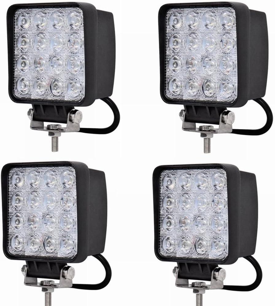 LARS360 48W Led Auto Luz de trabajo Foco Lampara Resistente Al Agua Para Offroad SUV ATV UTV lámpara de trabajo Tractor Excavadora Camión Coche 4X48W
