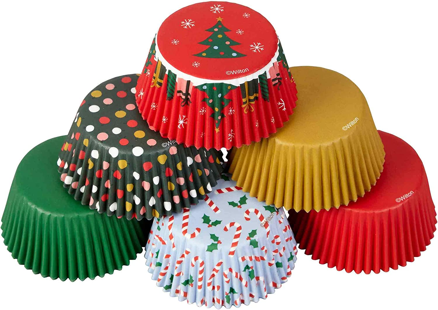 Standard Baking Cups-Christmas Traditional