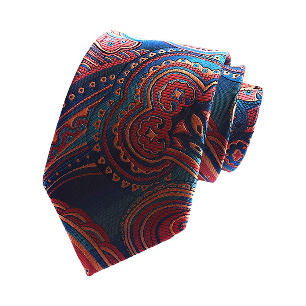 Fansi 146 * 8cm Color Creativo dise/ño cl/ásico Corbata de poli/éster para Hombre Azul poli/éster