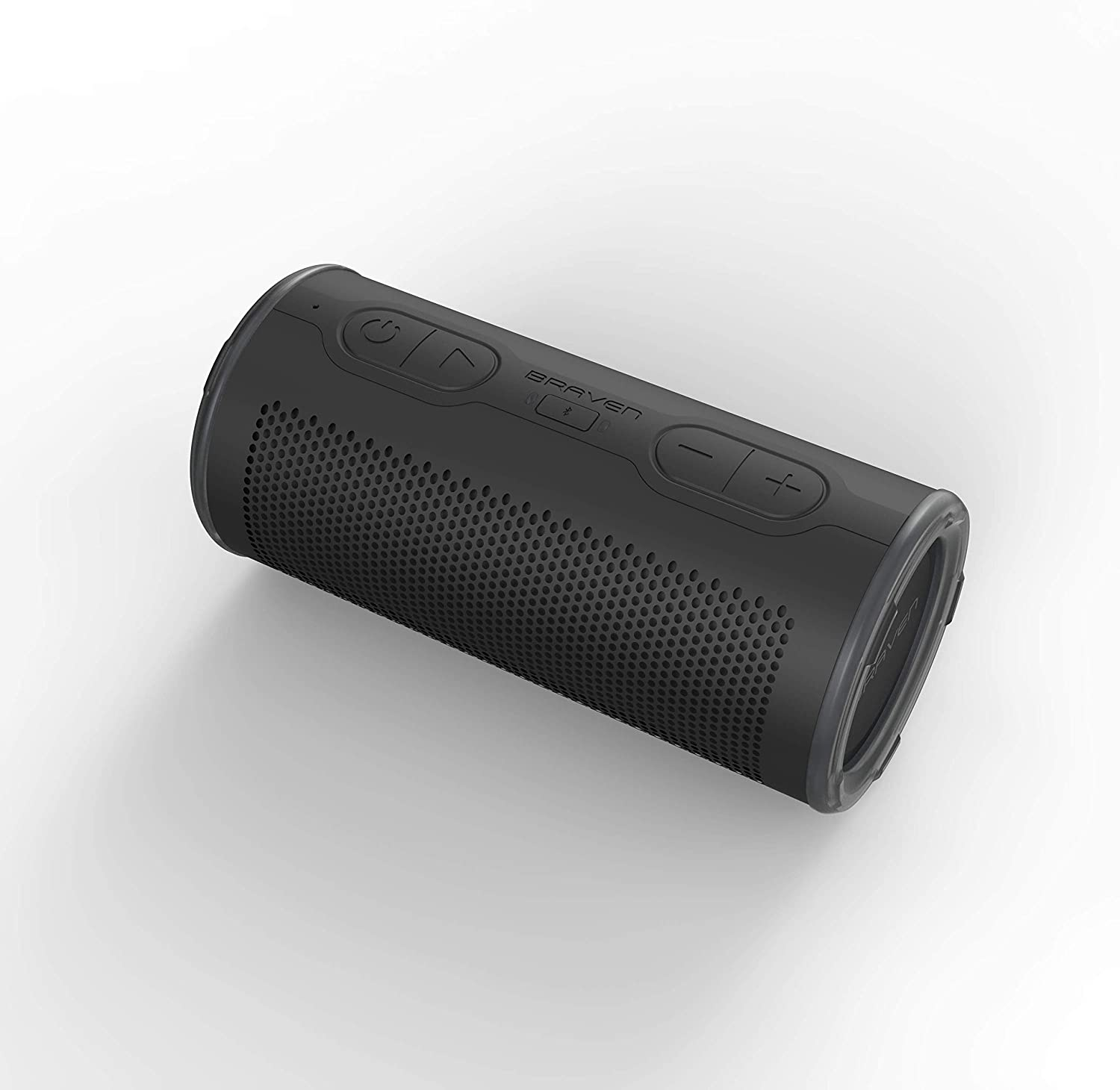 Black Braven BRV-360 360 Degree Speaker Bluetooth Wireless Technology Waterproof Portable Speaker